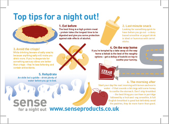 Top tips on how to enjoy a great night out and feel great the next day